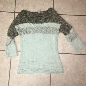 BKE Sweater Sea Foam Green Women's M